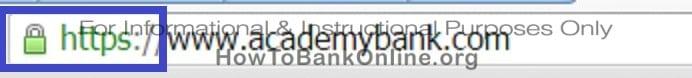 Academy Bank Secure Website