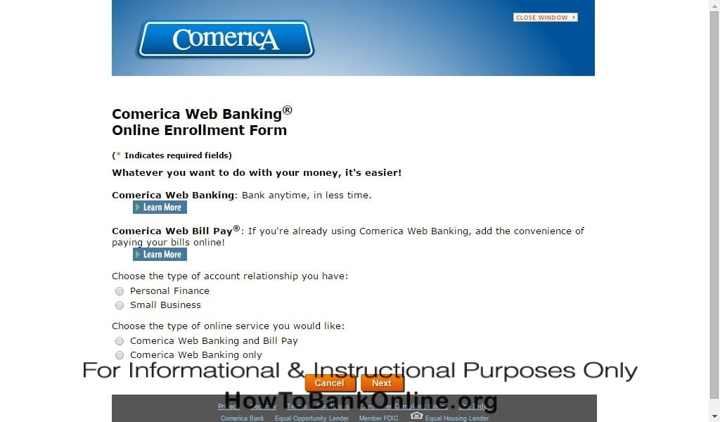 Comerica Online Web Banking