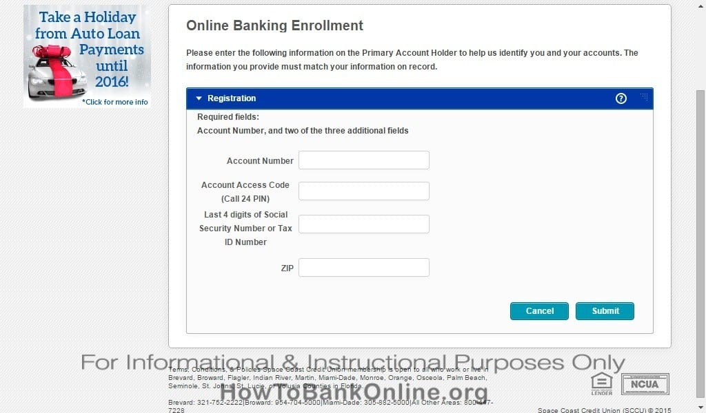Enroll to SCCU Online Banking