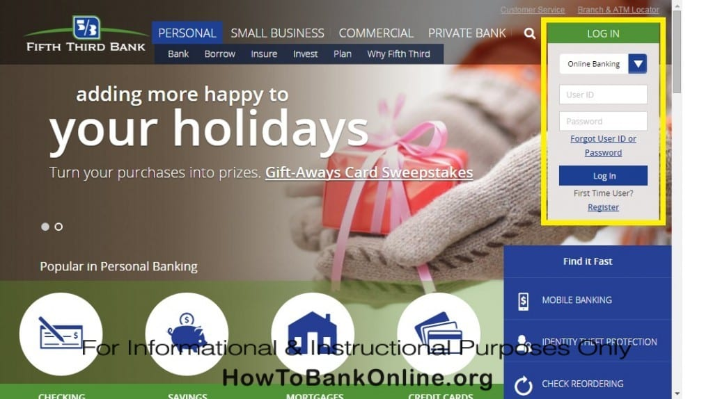 Fifth Third Bank Online Banking Login