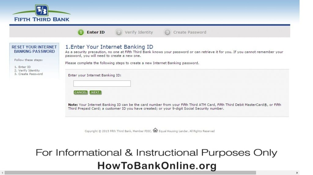 Fifth Third Bank Reset Password