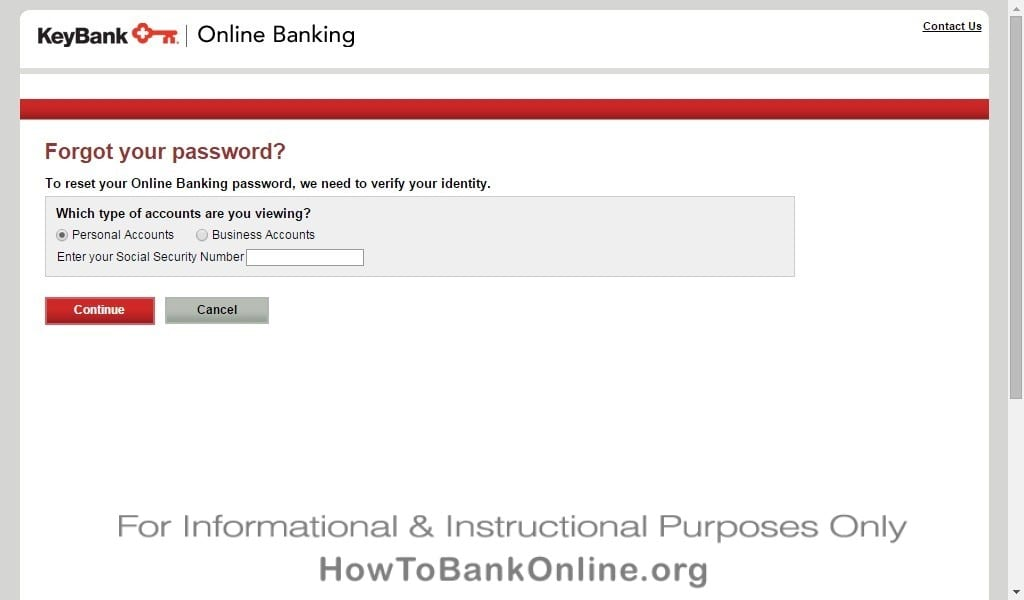 KeyBank Forgot Password