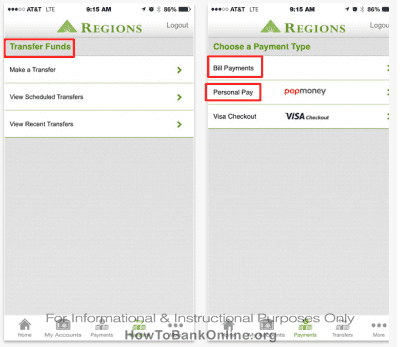 Regions Mobile App on iPhone