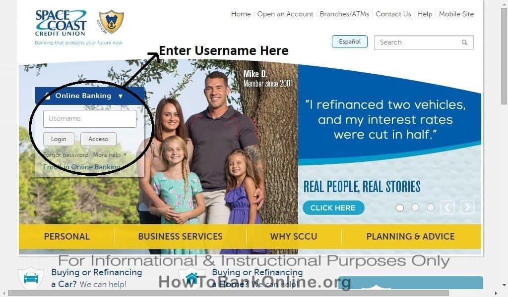 SCCU Online Banking Login