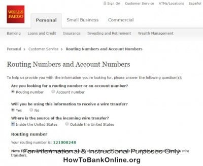 Wells Fargo Routing Number and Swift Code | How To Bank Online