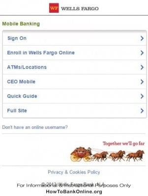 wf.com Mobile Website